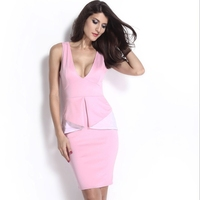 MS62305W fair lady sexy sleeveless women fashion dress