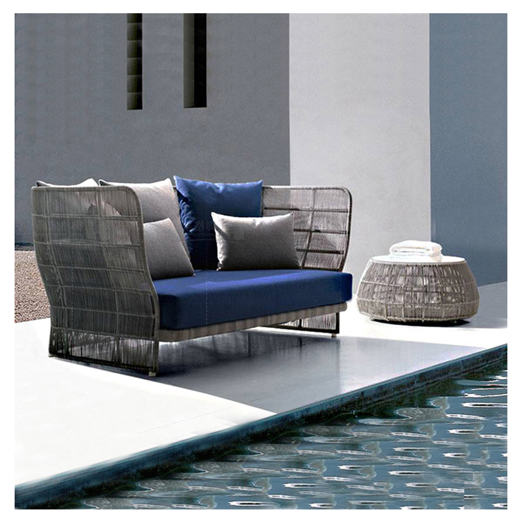 VISKY Outdoor sofa courtyard balcony swimming pool Nordic <strong>furniture</strong> <strong>rattan</strong> <strong>garden</strong> set