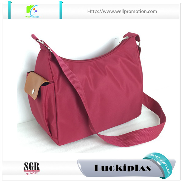 Waterproof nylon sling cross body travel bag woman