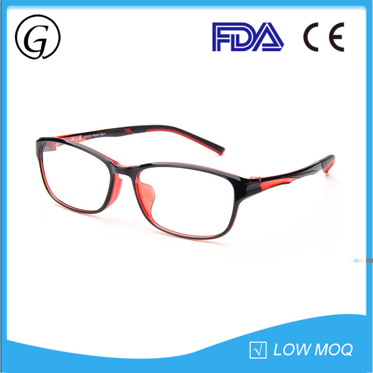 Latest trendy fashion red eyeglasses optical spectacles frame for girls