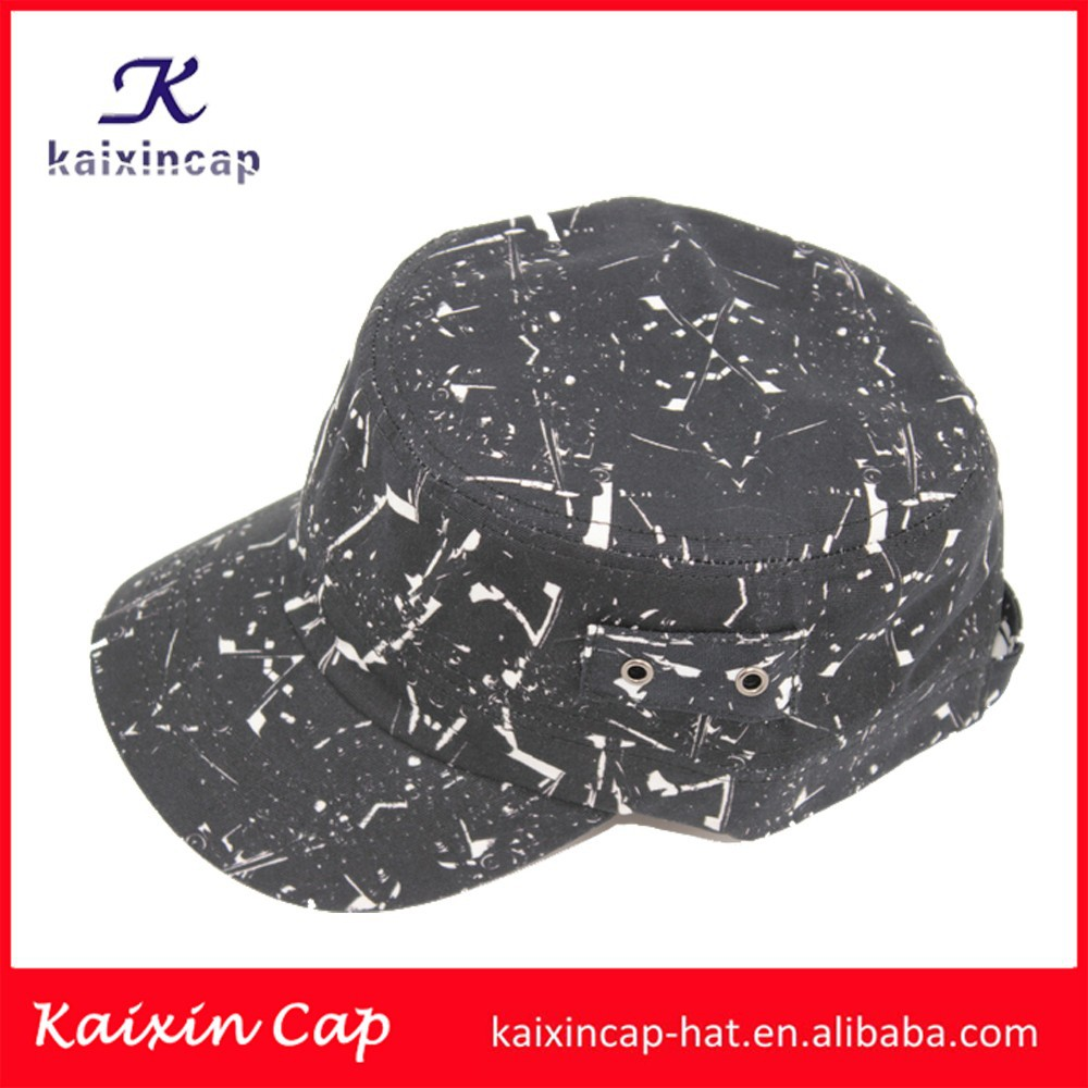 hat manufacturer good quality hot sale black army military hats with your logo