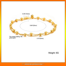 Shenzhen jewelry factory offer gold anklet designs