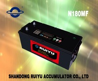 N180 MF JIS 12V180ah dry charged korean truck battery auto battery