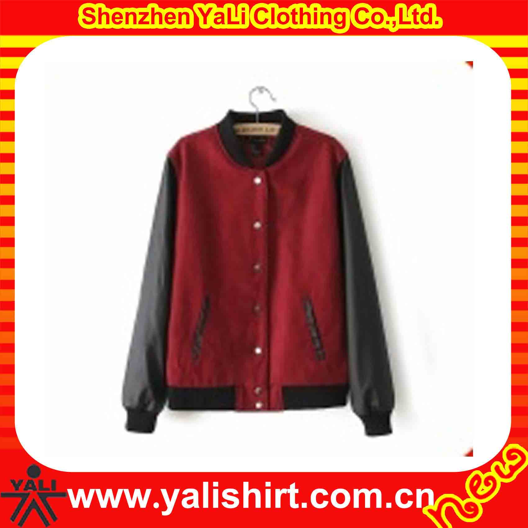 Hot selling fashion customize good quality leather sleeve jacket for men