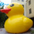 Popular touristy view inflatable yellow plastic duck