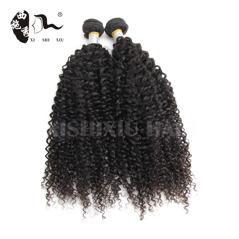 XISHIXIU HAIR 8A Real Indian Hair For Sale, 100% Human Virgin Indian Woman Long Hair , Kinky curl Indian Hair