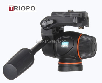 "TRIOPO HY-250 Tripod Head Hydraulic Damping Video Head Tripod 1/4"" 3/8"" Head For DSLR Cannon Nikon Camcorders Shooting Filming"