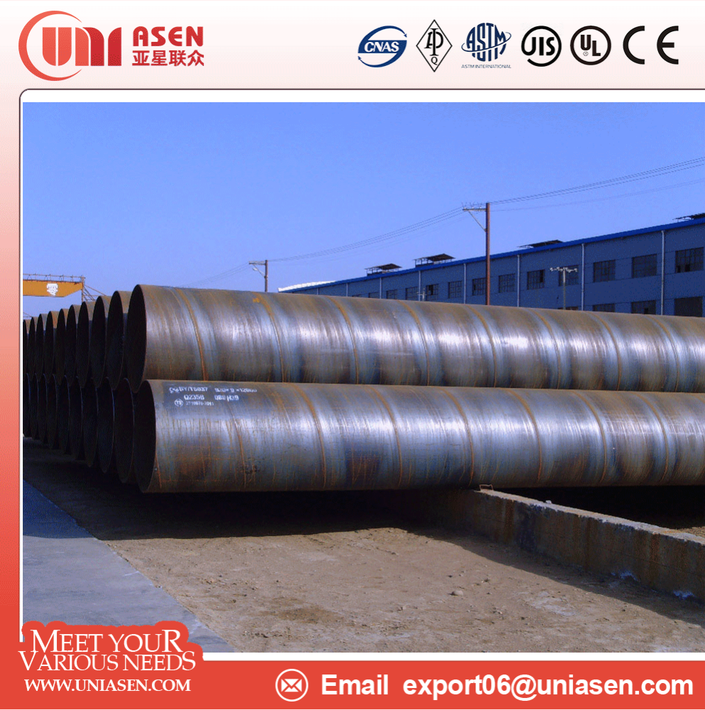 China large diameter ssaw welded steel pipe