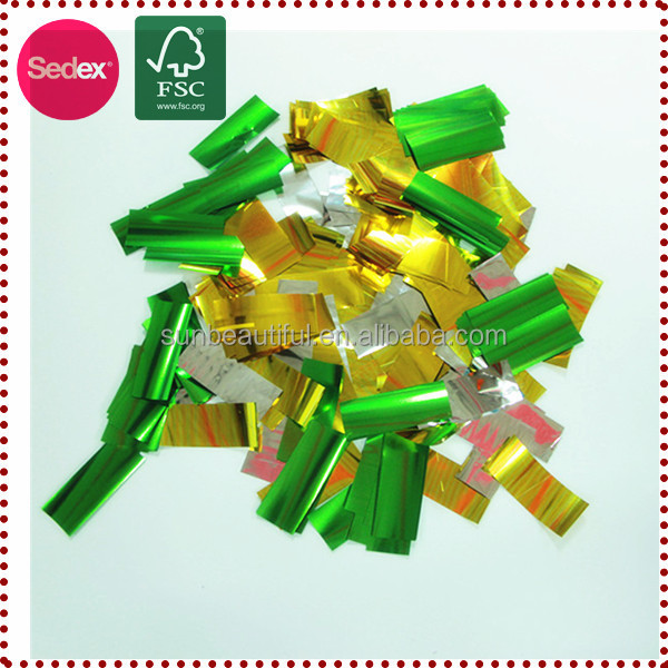 Various Colorful Shaped Confetti Dissolving Confetti for Decoration