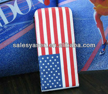 US flag diamond leather case for iphone 5