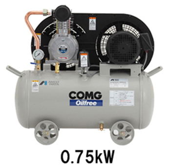 small AC power oil free piston air compressor