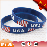 Country flags silicone bracelet printer silicone wrist band