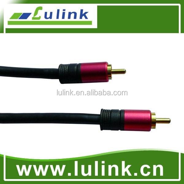 Telecommunication Parts RCA Plug-plug AV cable Audio Video cable assembly