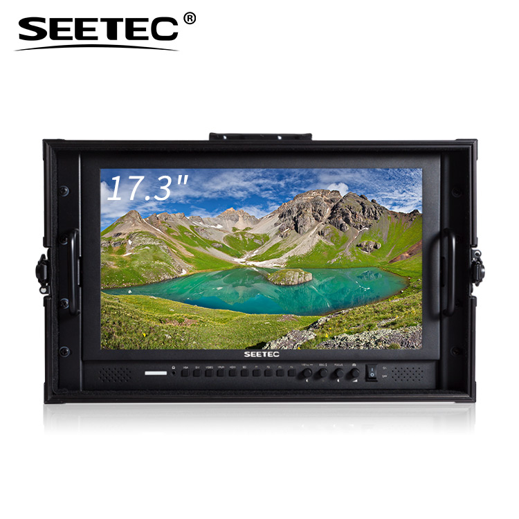 Outdoor high definition 1920x1080 flat panel monitor lcd 17 with all digital/analog HD/SD/3G Inputs and advanced function