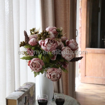 European core-spun peony four color high-grade simulation flowers suit for simulation of plant simulation