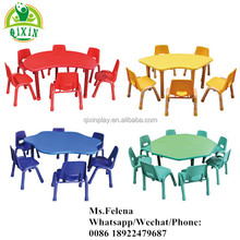 Cheap kindergarten classroom furniture supplier Malaysia for children plastic table and chair