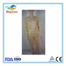 Disposable ppe gown yellow isolation gown