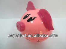 Plastic ABS Pig Shaped Mechanical Kitchen Timer