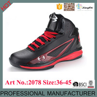 High Quality Low Price Wholesale PU Material Sport Basketball Shoes for men