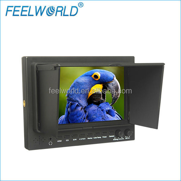 7 inch battery powered lcd video monitor with SDI HDMI signals for broadcast best and cheap price