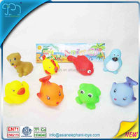 8 PCS Rubber Silicone Dog Toy For Kids Vinyl Toy Dog For Baby Bath
