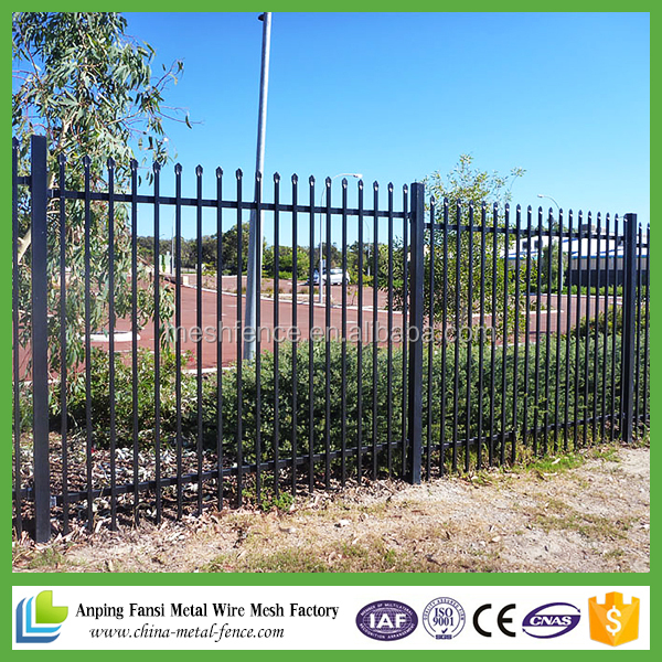 cheap china alibaba suppliers outdoor galvanized plastic rolled picket security fence for sale