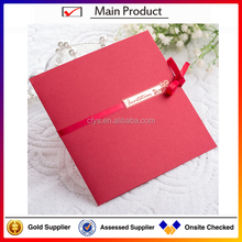 Folding unique Gift Card Wedding Invitation Card With Ribbon