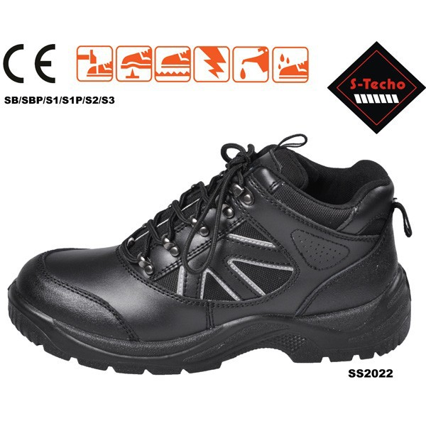 Leather safety working shoes
