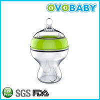 2016 NEW special food grade silicone baby bottle with cover
