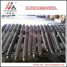 65/132 Jwell twin conical screw cylinder for pvc profile extruder
