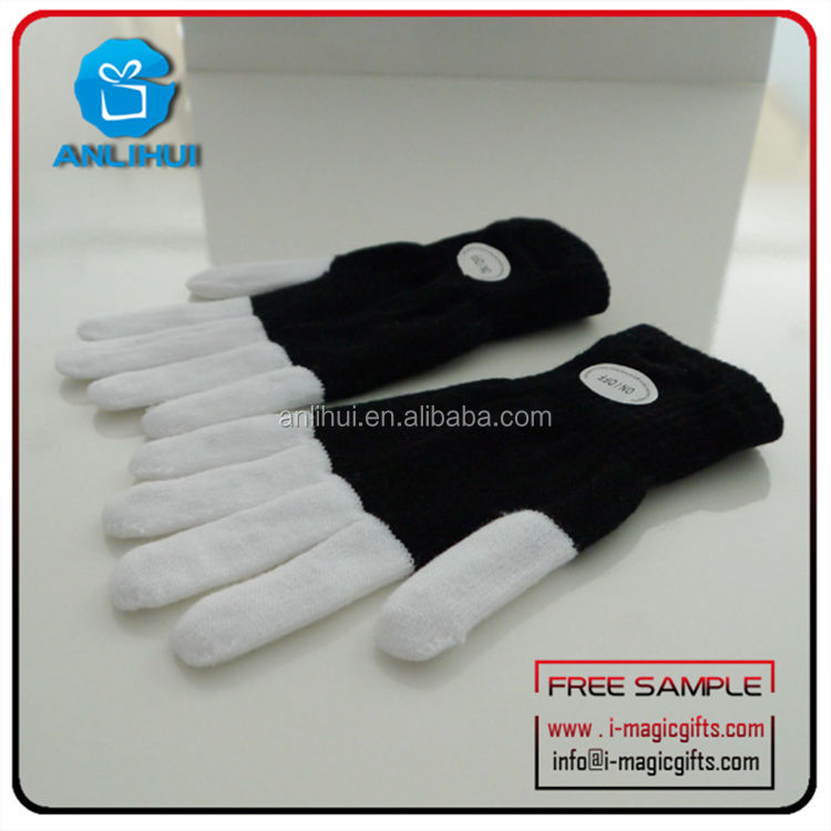 Dacing flash fingers LED cotton gloves party products