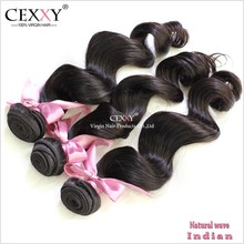 CEXXY Hot Selling Double Weft Real Human Hair Extensions In Mumbai India