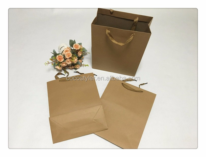 2016 top quality hoe selling paper bag with handle
