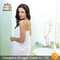 zhongyue quick dry white bathrobe with skirt for women
