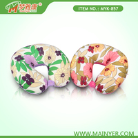 Different Types Printing U-Shaped Travel Neck Stuffed with Soft Microbeads Pillow