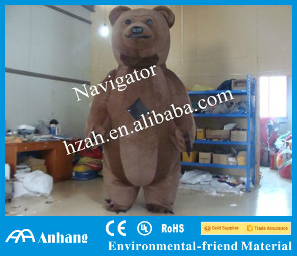 Big Inflatable Brown Bear Moving Cartoon