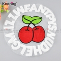 Keering Fashionable Red Strawberry Embroidery Patch For Clothes WPHA-001