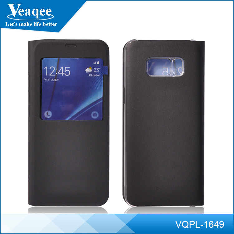Veaqee factory flip pu mobile phone case cover for samsung cell phone case supplier