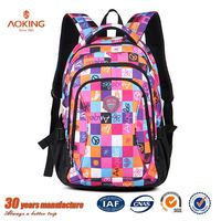 Beautiful fashion style zipper adult travel backpack kids bags school/.