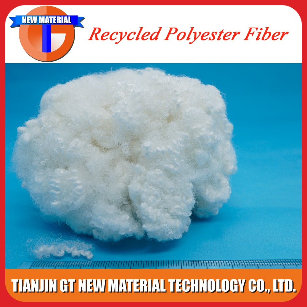 good pillow filling material recycled polyester fiber, hollow conjugated fiber
