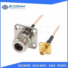 China supplier SMA female panel mount to N type Female Adapter Wifi Antenna Pigtail Cable 15cm