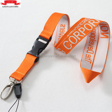 Printed your own logo breakaway woven neck lanyard with sample free