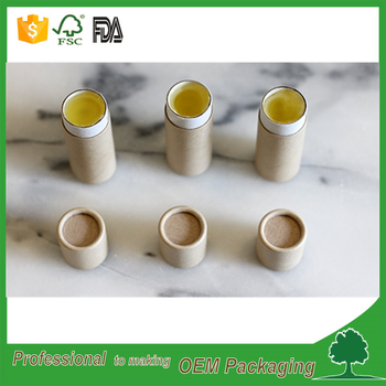 wholesale kraft push up design round lip balm containers paper tube box for lip balm chapstick lip gloss packaging