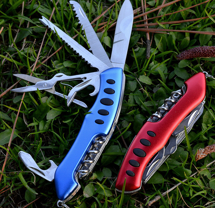 Wholesale new design seven uses 420 stainless steel multi function pocket knife