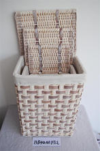 cheap wood chip laundry basket