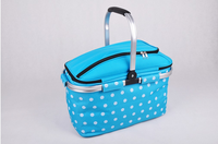 Wholesale High Quality Folding Picnic Camping Insulated Cooler Cool Basket Zip Bag