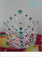 Wholesale hot sell Fashion butterfly pageant crown green tiara