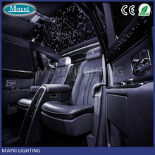 Car roof top ceiling star light with LED light bar fiber optic cable remote controller