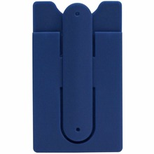 for mobilephone silicon card holder with stand