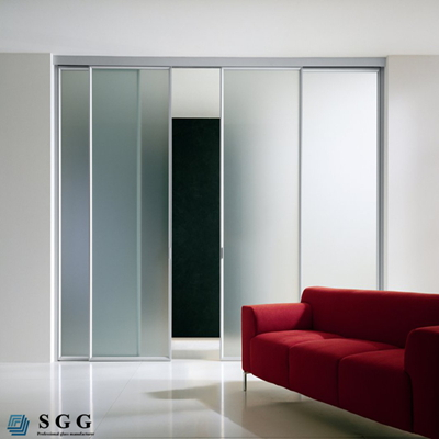 High Quality tempered pocket door glass panels